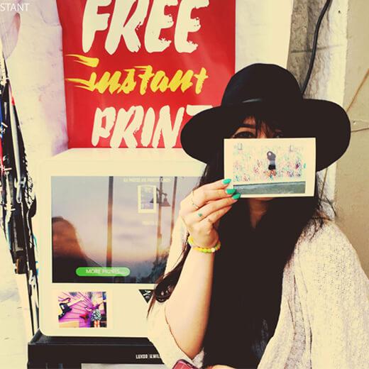 instagram printing kiosk