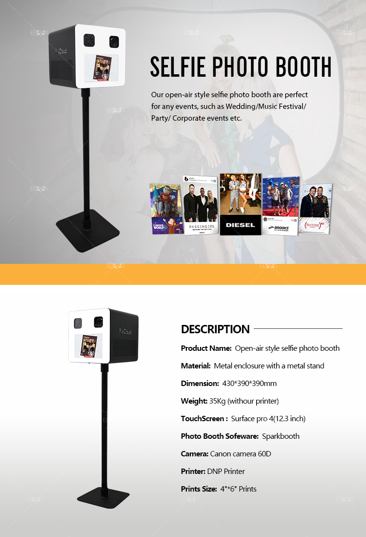 Portable Selfie Photo Booth Pad Photo Printer Booth For Sale