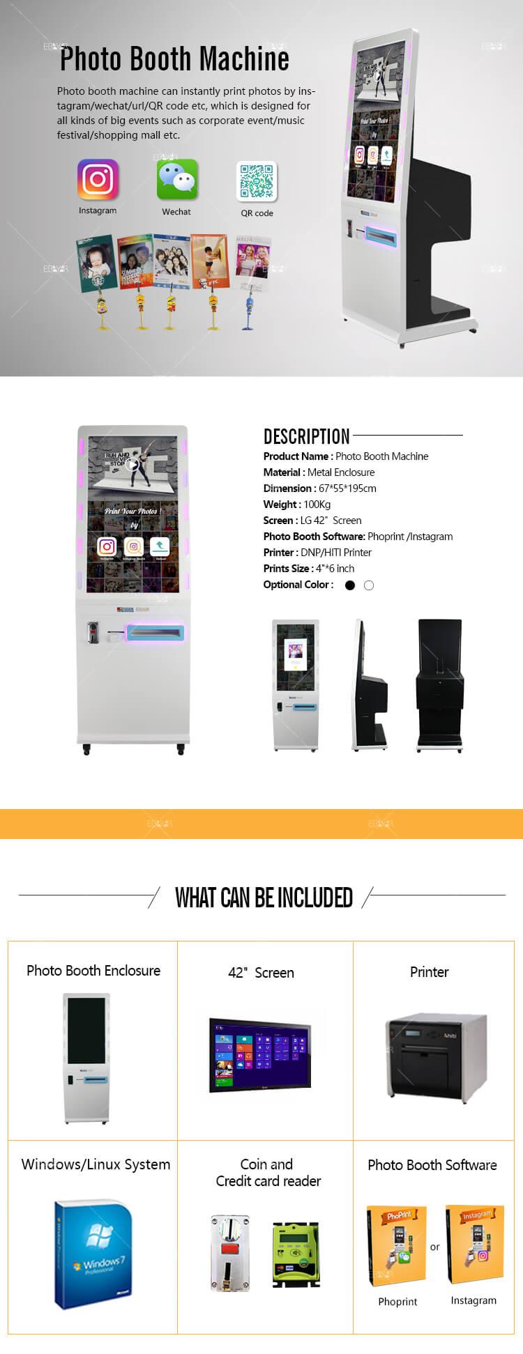 Photo Printing Machine Digital Signage Kiosk Printer Station Video Advertising Player 01