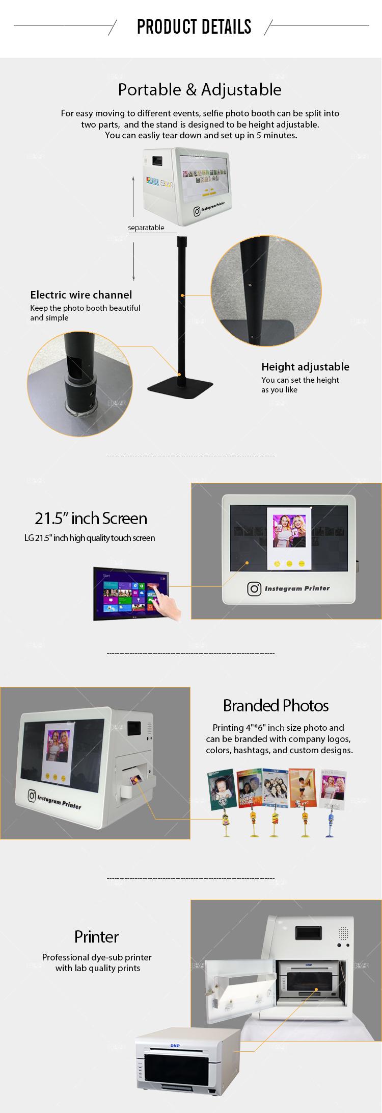 Portable Wedding Photo Booth Instagram Printer Selfie Phtotobooth 04